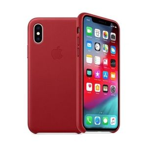 Authentic Apple iPhone XS Max Silicone Case - Red